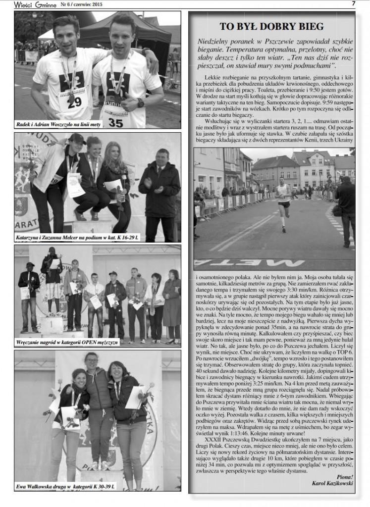 Wieści gminne Pszczewa i okolic - czerwiec 2015